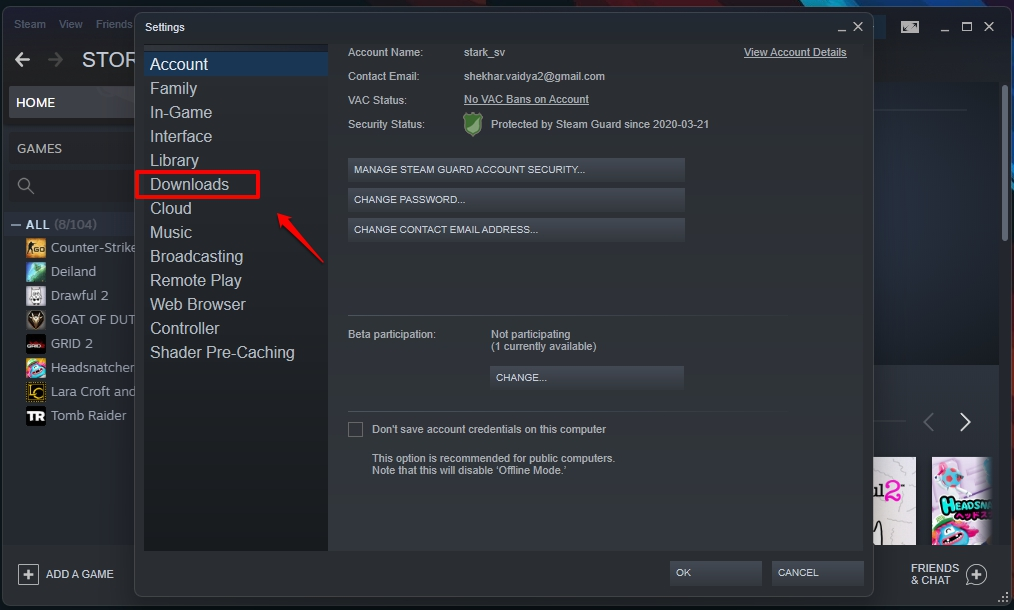 Steam Not Downloading Games