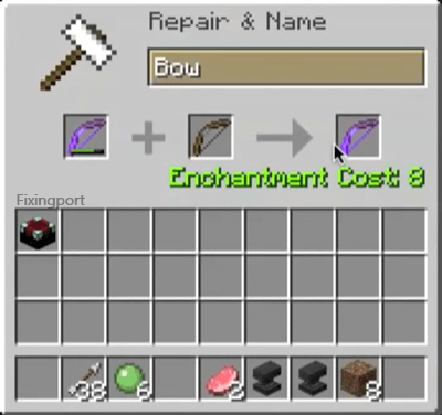 Repair a Bow in Minecraft